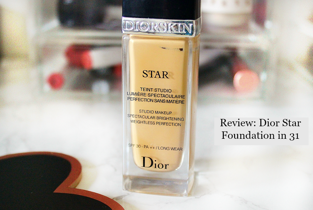 Dior skin star foundation in 31 review and swatch