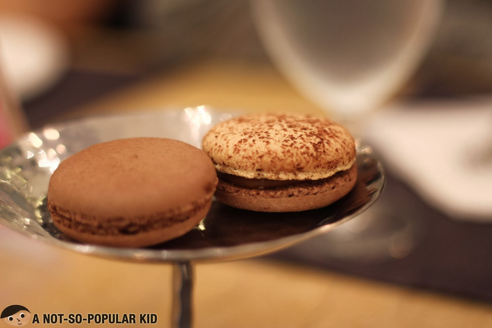Dark Chocolate and Caramel Fleur de Sel Macarons of BIZU