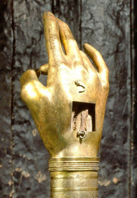 Right hand of Saint John the Baptist.  Topkapi Palace. Istanbul. Turkey.