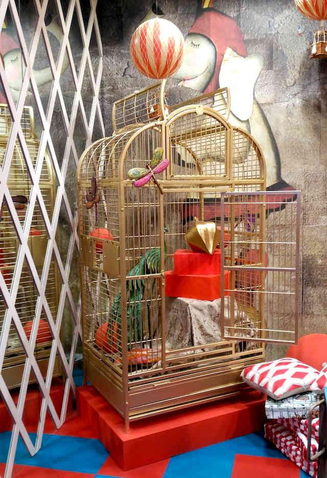 espacio infantil Casa Decor 2017 Jaula de oro