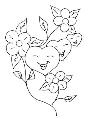 desenhos para colorir desenhar e pintar imagem coração para colorir