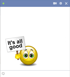 It's all good emoticon