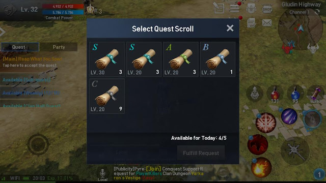Scroll Quest Lineage 2 Revolution Indonesia