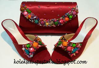Model Terbaru Tas Pesta Clutch Bag Match Tas Pesta Murah Uni Maroon