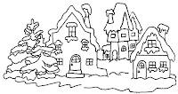 colorear de Casas de navidad