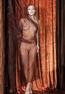 голая тетка за занавеской