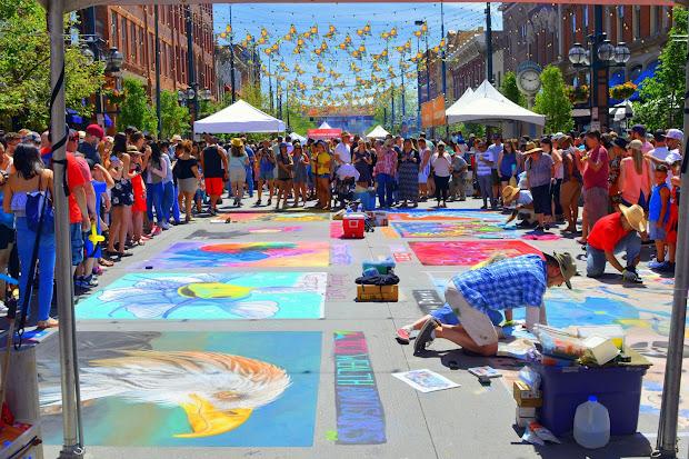 Mille Fiori Favoriti Denver Chalk Art Festival 2017