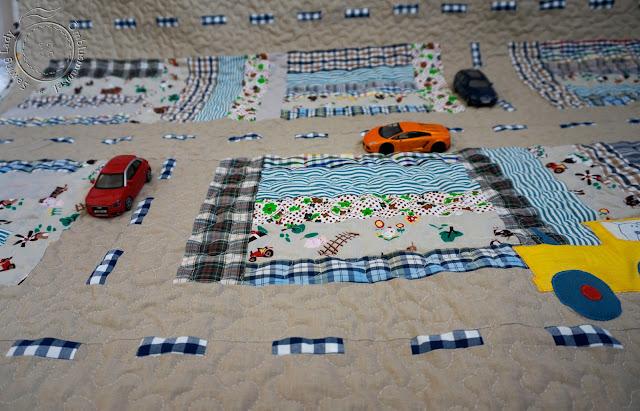 lapitehnika, boys quilt, kids patchwork quilt