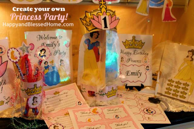 Create your own princess party with free printables