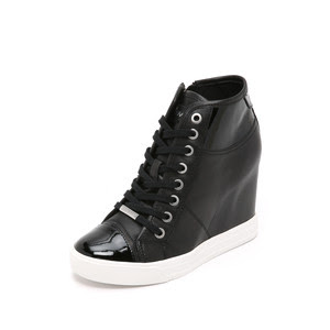 Grommet zip wedge sneakers, $195 from DKNY