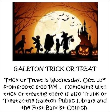 10-31 Galeton Trick-or-Treat