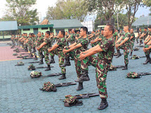 Minggu Militer, Prajurit Jajaran Korem 132/Tdl Senam Senjata