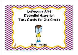 Common Core Reading Essential Questions Task Cards For 2nd Grade
