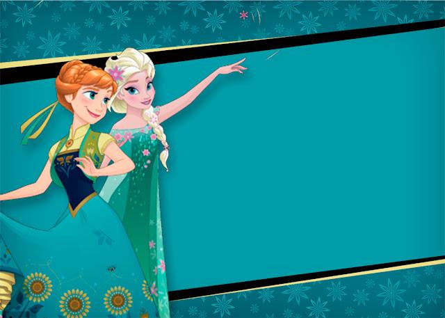 Para hacer invitaciones, tarjetas, marcos de fotos o etiquetas, para imprimir gratis de Frozen Fever.
