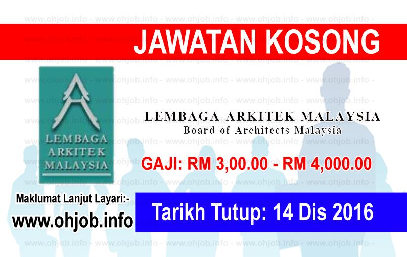 Jawatan Kerja Kosong Lembaga Arkitek Malaysia logo www.ohjob.info disember 2016