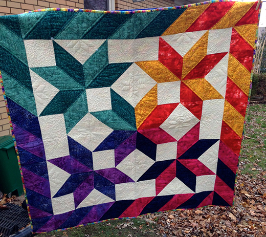 8 Pointed Star Quilt Free Pattern designed By Robin of Quilting in the Loft