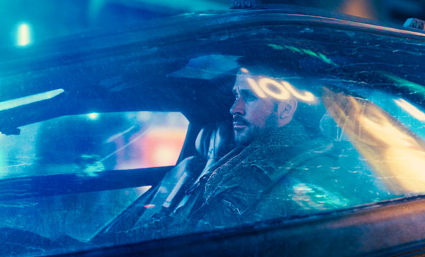 K (Ryan Gosling) in BLADE RUNNER 2049