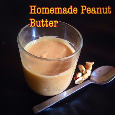 Homemade Peanut Butter / how to make Peanut Butter At Home