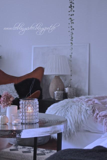 Herbstdekoration Wohnzimmer