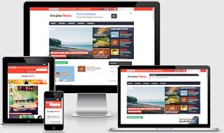 simplex namo responsive blogger template premium