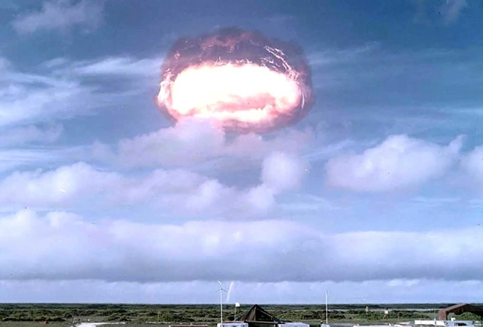 A view of the Arkansas test, part of Operation Dominic, a series of over 100 nuclear test explosions in Nevada and the Pacific in 1962.