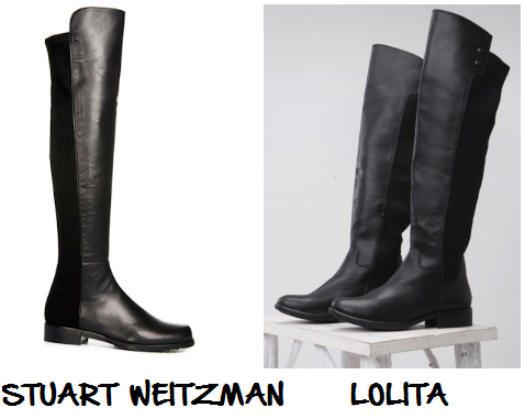 clones 2016 - botas 50/50 stuart weitzman lolita