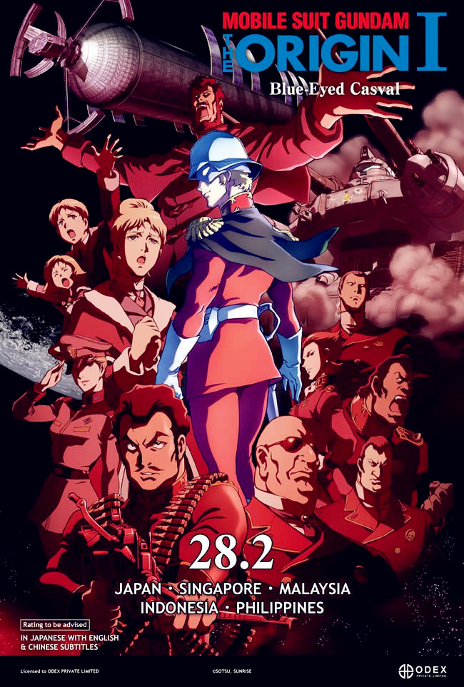 Sinopsis Film Anime Mobile Suit Gundam Origin 1: Blue-Eyed Casval