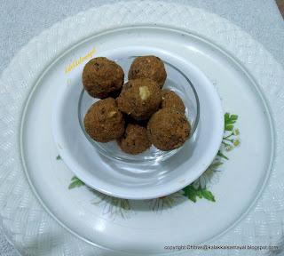 Foxtail millet [ Thinai ] Raisins Urundai