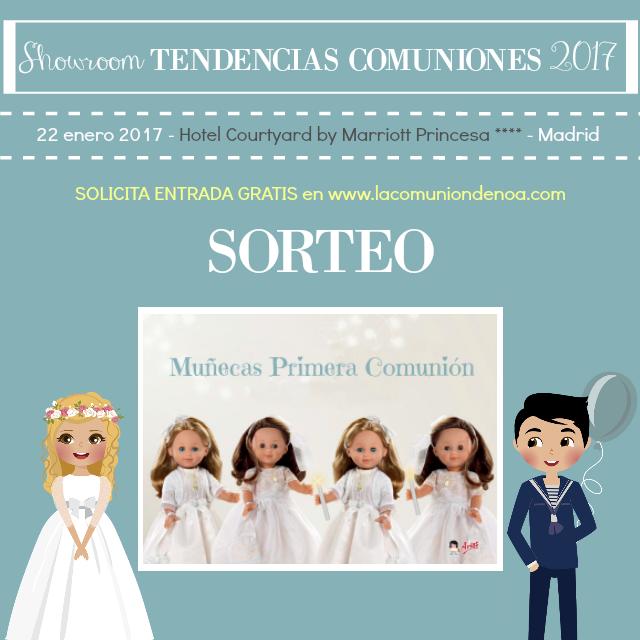 sorteo muñecas arias primera comunion - showroom tendencias comuniones 2017 - la comunion de noa