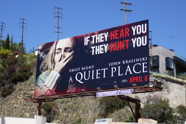 A Quiet Place movie billboard