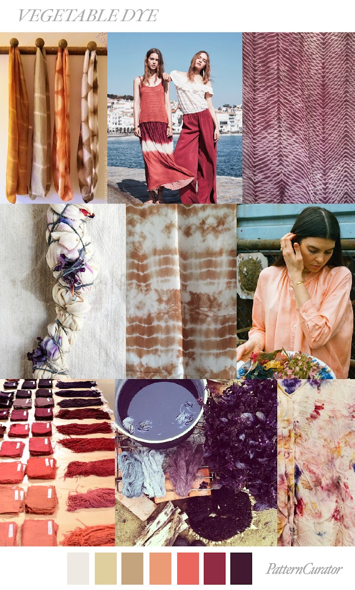 Todayu0027s Color And Print Mood Board Exclusive For Fashion Vignette   VEGETABLE  DYE