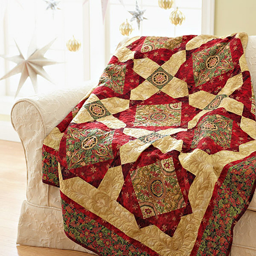 Holiday Sparkle Quilt Free Pattern