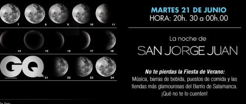 La noche de San Jorge Juán. Fiesta del verano en  la Calle Jorge Juan