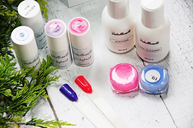 ISABELLE Nails, produkty do stylizacji paznokci.