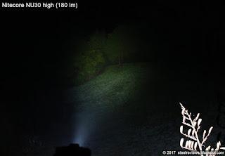 Nitecore NU30 beam shot on high