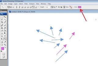 Cara Membuat Tanda Anak Panah Dengan Photoshop CS 3