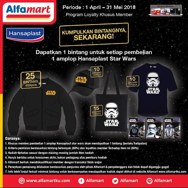Dapatkan 1 bintang untuk setiap pembelian 1 amplop Hansaplast Starwars dan menangkan berbagai hadiah serunya! Periode 1 April - 31 Mei 2018