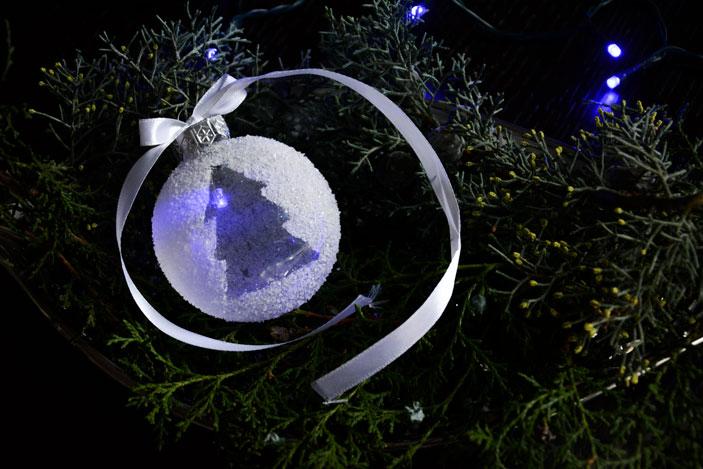 Bolas de navidad con leds