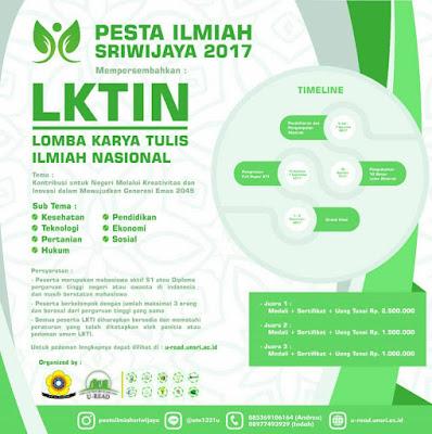 Lomba Karya Tulis Pesta Ilmiah 2017 by Univ. Sriwijaya for Mahasiswa