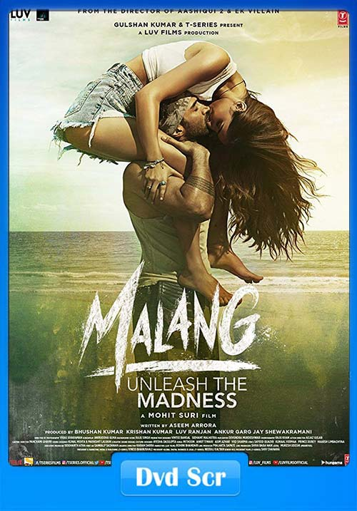 Malang 2020 Hindi 720p HQ DVDScr x264 | 480p 300MB | 100MB HEVC
