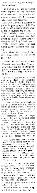 Boy Sees Space Ship in Dante Pasture (3) - Knoxville New Sentinel 11-6-1957