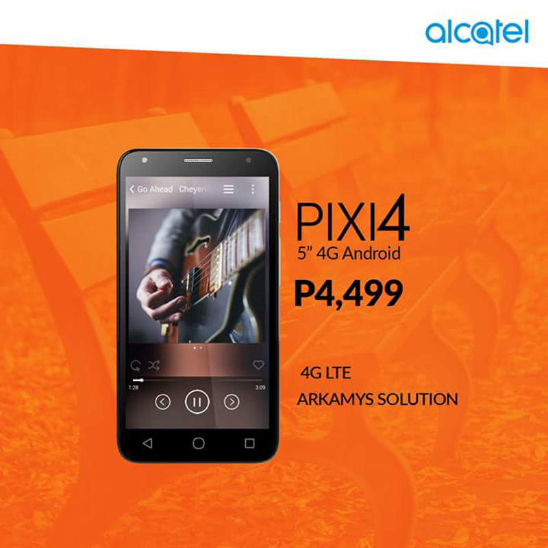 Alcatel Pixi 4 (5) LTE With Arkamys Audio Now In The Philippines, Priced At PHP 4499!