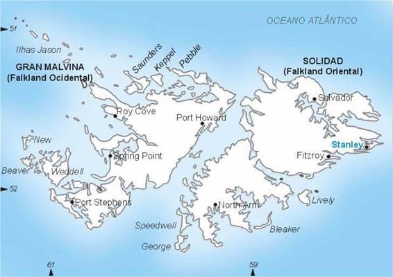 Ilhas Falklands (Malvinas) | Território do Reino Unido