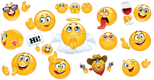 free smiley faces chat posts