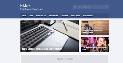 N Light Responsive Blogger Templates and Seo Friendly