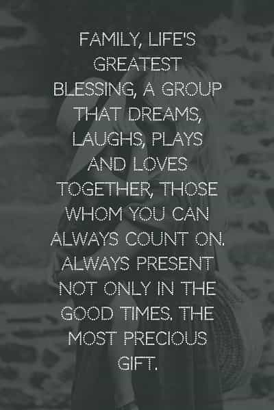 Inspirational family quotes and loving family sayings