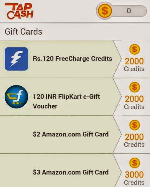 Looking to get some Freecharge Freefund? Try the Tap Cash Rewards!