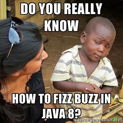 FizzBuzz Solution in Java 8 using Streams