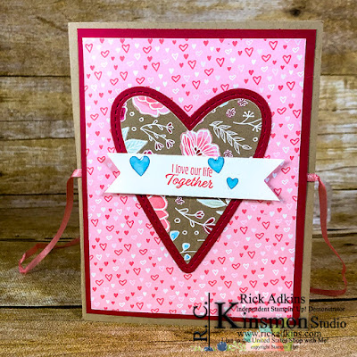 Meant to Be Cling Bundle, All My Love Designer Series Paper, Rick Adkins, Stampin' Up!, Heart Epoxy Droplets, All my Love Ribbon Combo Pack
