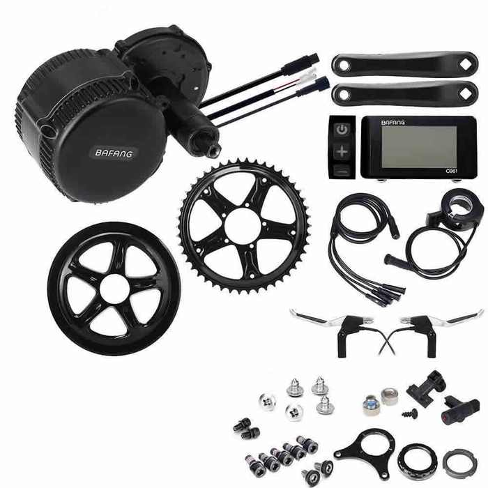 kit bicicleta electrica conversion motor central - armado